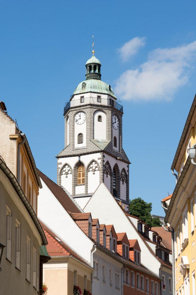 Tower of the Frauenkirche church in Meissen
