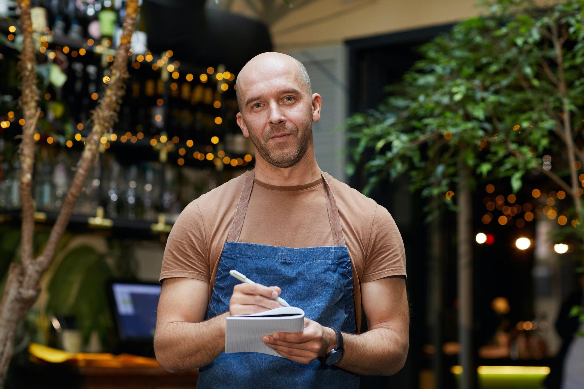 Waiter at the restaurant